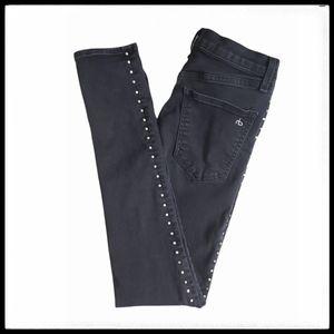 Rag & Bone Studded Dive Jeans